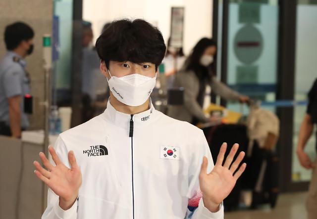 【东京奥运会】黄宣优结束奥运比赛回到韩国
