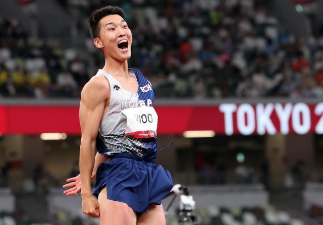 [도쿄올림픽 2020] 우상혁 한국신기록 (포토)