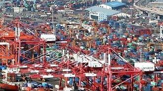 7月の輸出額、554億ドルで「過去最高」・・・成長率は次第に減速