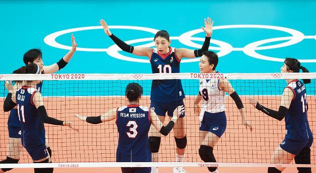[도쿄올림픽 2020] 숨 고른 여자 배구, A조 3위로 8강 진출...세르비아에 패