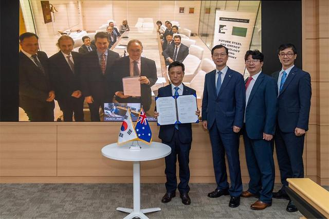 POSCO ties up with Australian partner Roy Hill to establish cooperative green system