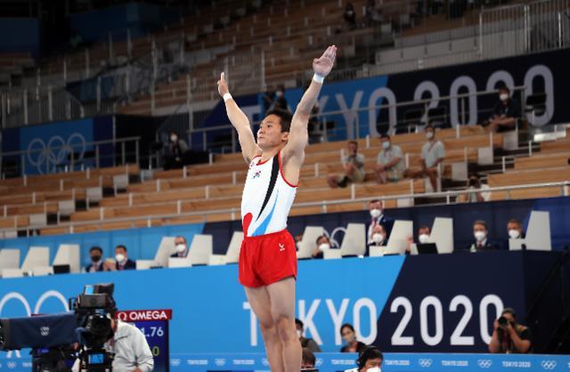 [도쿄올림픽 2020] 신재환, 도마서 금메달···양학선 이후 두 번째