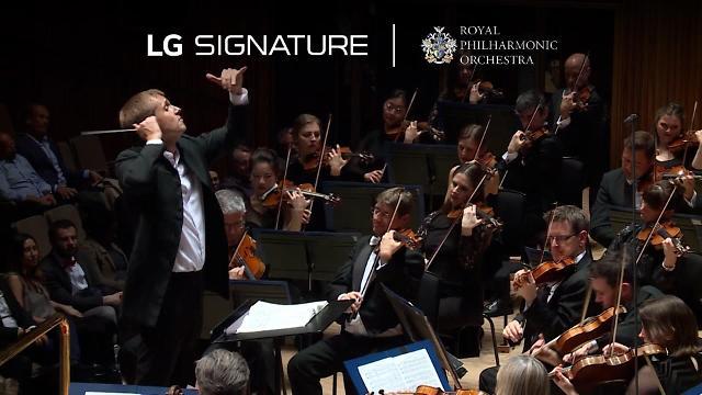 'LG 시그니처 올레드 R', 로열 필하모닉 오케스트라와 완벽한 앙상블