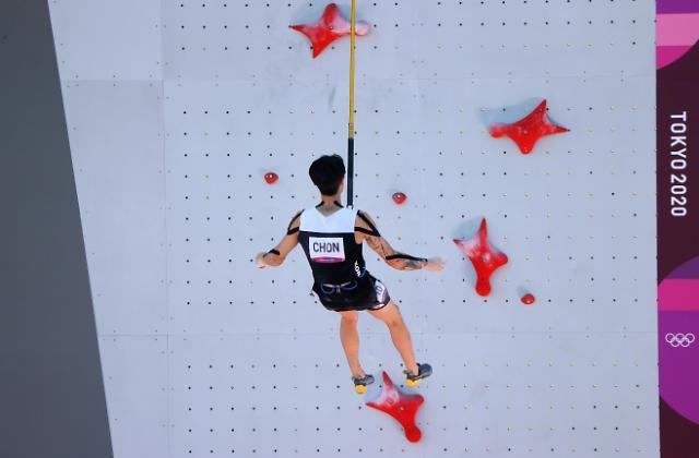 [도쿄올림픽 2020] 클라이밍 천종원, 스피드에서 실수 딛고 5위로