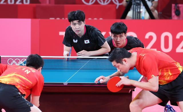 【东京奥运会】乒乓球男团半决赛 韩国队迎战中国队