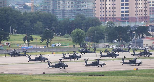 韩60名执政党议员发联名信 呼吁韩美联合军演延期举行