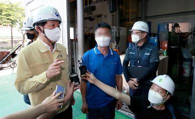 안경덕 고용부 장관, 물류센터 찾아 폭염 대응 현장점검 실시