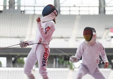 [도쿄올림픽 2020] 근대5종 여자부 펜싱 보너스 라운드 김세희 2점 획득