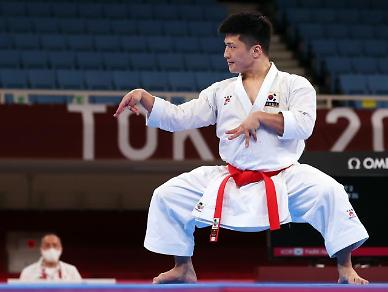 [도쿄올림픽 2020] 가라테 선보인 박희준, 동메달은 아쉽게 놓쳐