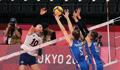 [도쿄올림픽 2020] 여자배우 1세트 세르비아 승