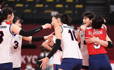 [도쿄올림픽 2020] '위대한 도전' 여자 배구, 세르비아에 져 최종 4위