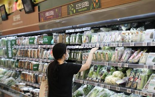 """1kg菠菜120块!"" 韩二季度食品价格涨幅居OECD第三"