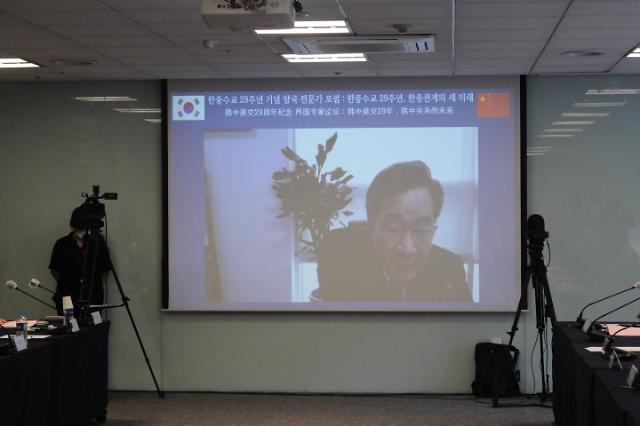 """이낙연 """"한중, 원로·여성·청년 참여하는 '취동화이'의 장 마련해야"""""""