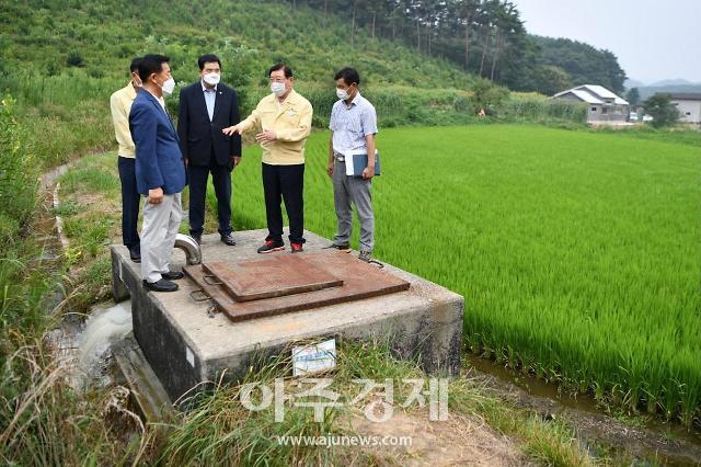 홍성군, 폭염 속 타는 농심에 긴급 농업용수 '단비' 뿌려