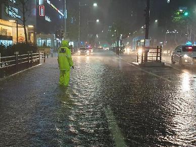 태풍 오마이스에 상가·주택 침수 등 피해 속출..1000여명 사전대피