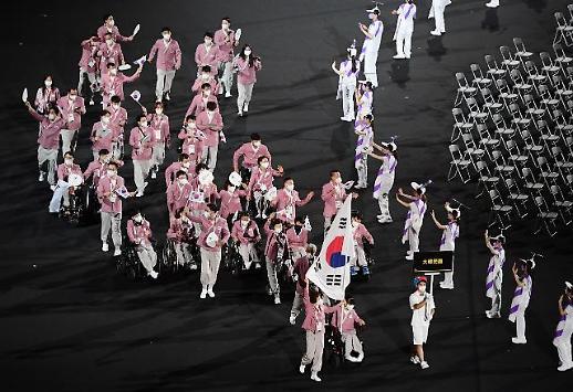东京残奥会开幕 韩国代表团第82个出场