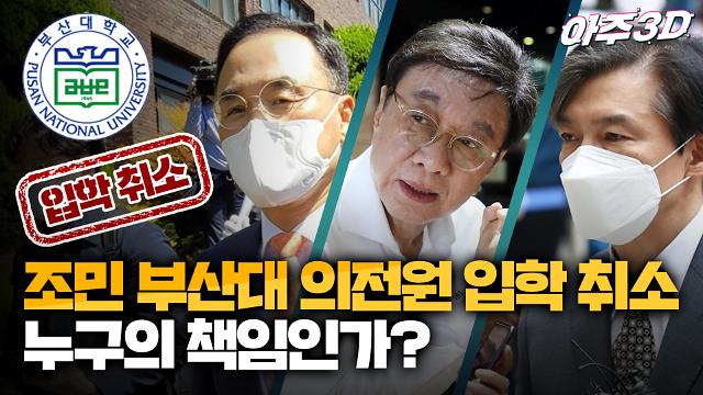 [영상/아주3D] 조민 부산대 의전원 입학 취소, 누구의 책임인가?