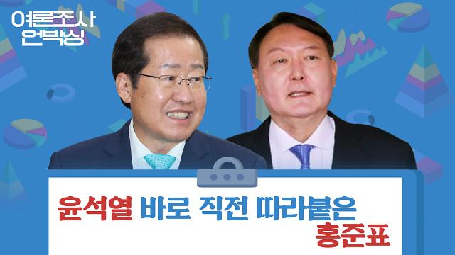 [여론조사 언박싱] 윤석열 바로 뒤에 따라붙은 홍준표