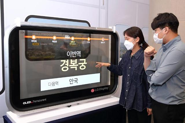 Domestic use of transparent OLED windows for trains wins government approval