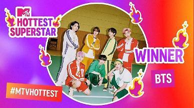 방탄소년단, 3년 연속 영국 MTV 핫티스트 슈퍼스타 1위