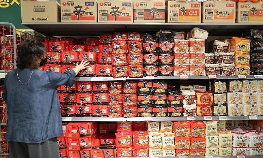 疫情红利退潮 上半年韩方便面销量回落