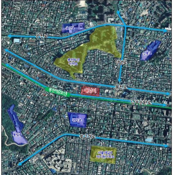 서울시, 봉천2역세권 도시환경정비구역 해제