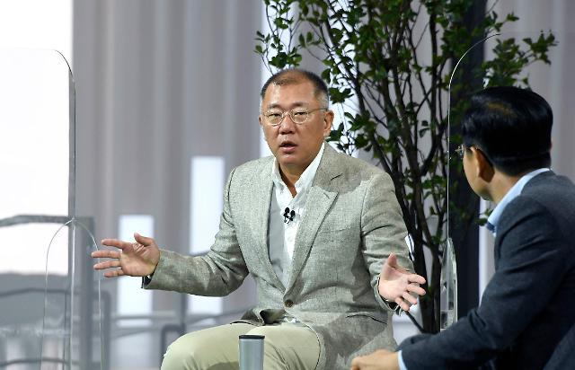 """정의선 현대차그룹 회장 """"수소 인류 삶 혁명적 변화 가져올 것"""""""