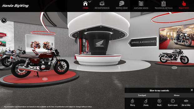 [NNA] 印 혼다 이륜차, 대형 오토바이 가상 쇼룸 오픈