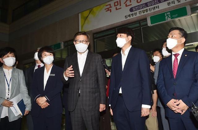 """박형준 부산시장-이준석 국민의힘 대표, """"침례병원, 공공병원화 추진"""" 협력"""