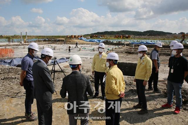 서천군 신청사 기초보강 공사 완료