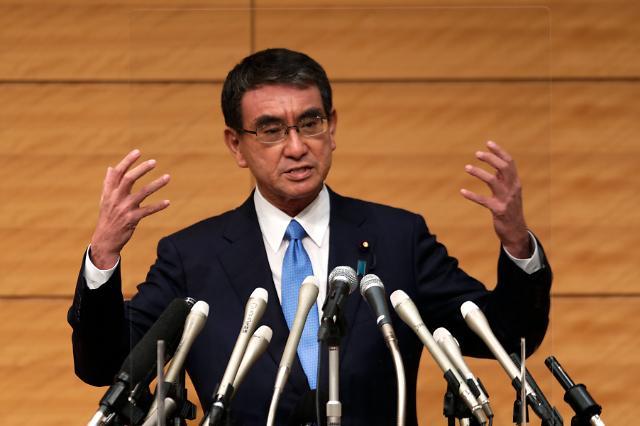 일본 고노 담당상, 자민당 총재 선거 출마 공식 발표