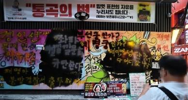 쥴리 벽화에 검은 페인트칠한 유튜버, 경찰 불송치 결정