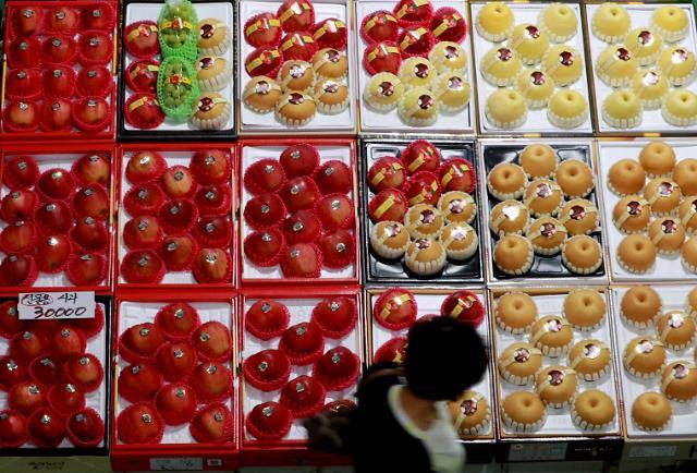 中秋果蔬放心吃 韩节前物价同比微降