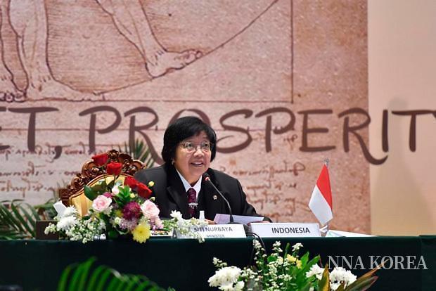 G20 환경부 장관 회의에 참석한 시티 환경산림부 장관