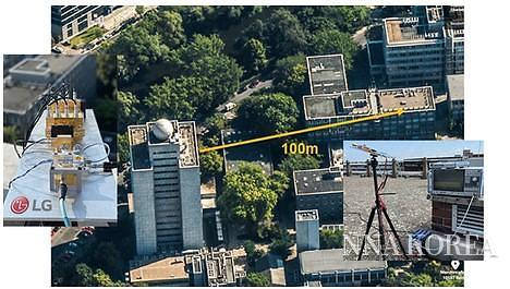 LG전자, 실외100m 이상의 무선 데이터 송수신에 성공