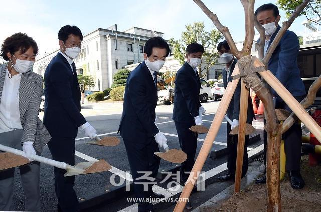 [경기 의정부소식] 4.5급 승진자 배롱나무 식수 행사