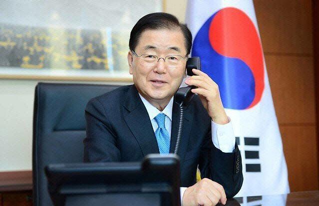 """정의용 """"김정은 핵무기 발전 발언은 대내용...부담 느끼고 있을 것"""""""