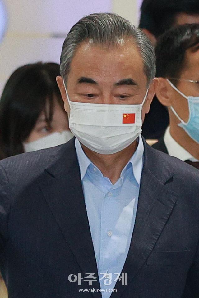 [포토] 중국 왕이 외교부장 방한…대북·대미 메시지 주목