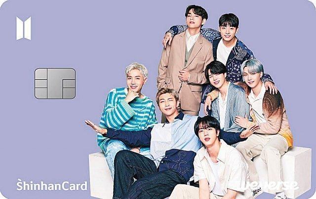 """新韩""""BTS""""卡上市"""
