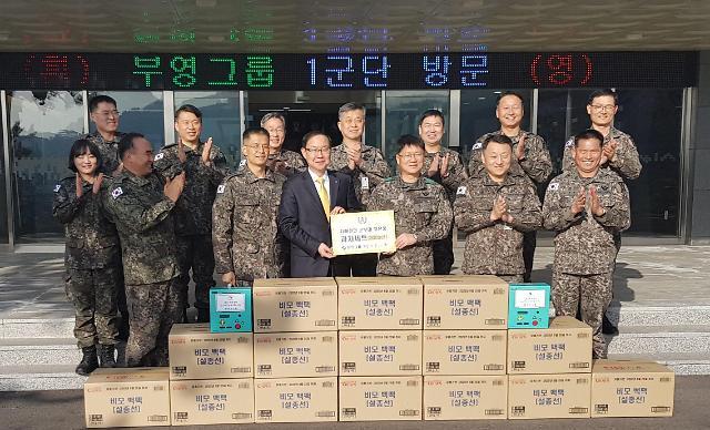 부영그룹, 추석 맞아 군부대 6곳에 위문품 전달…군 장병 격려