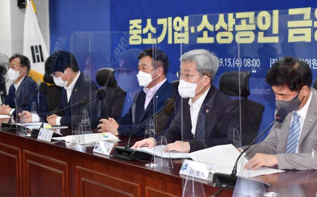 """[종합] 당정 """"소상공인 대출연장·상환유예 내년 3월까지 연장…코로나 어려움 여전"""""""