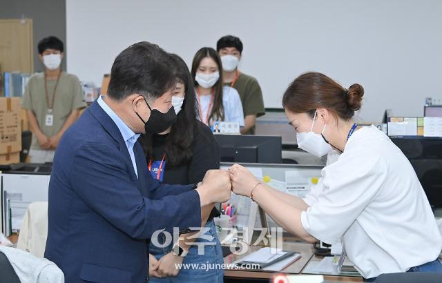 권영진 대구시장, 추석 아래 '백신접종센터‧선별진료소' 방문 격려
