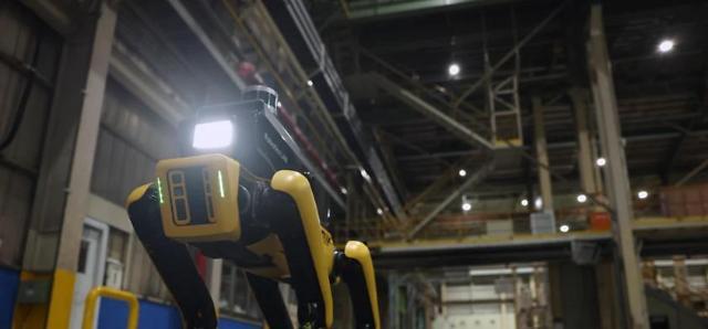 Hyundai Motors dog-like safety service robot deployed for pilot operation at auto plant