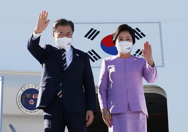 文在寅夫妇抵达纽约将出席联合国大会