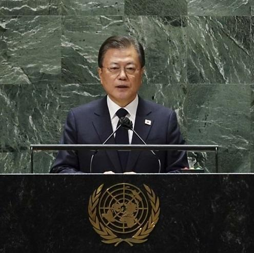 [전문] 文, 임기 마지막 유엔총회 연설…한반도 평화 노력 지지 호소