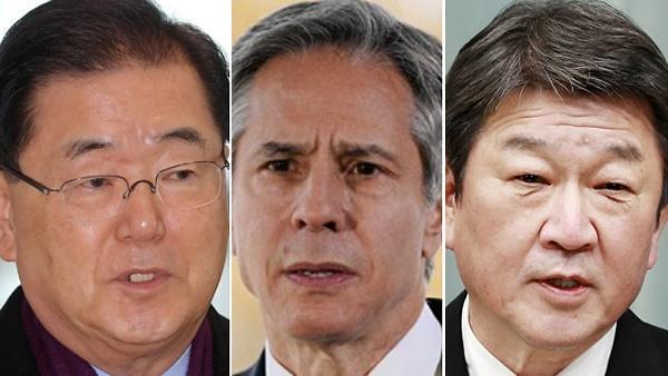 한미일 외교장관, 22일 뉴욕서 회담...文 종전선언 등 대북 외교 논의