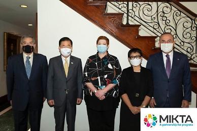 정의용, 믹타 외교장관 회의 참석...코로나 백신 공평 접근 강조