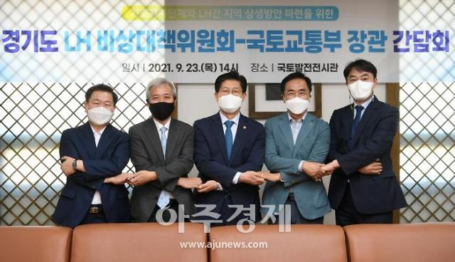 경기도 16개 기초자치단체 LH비상대책위원회, 노형욱 국토부장관 면담
