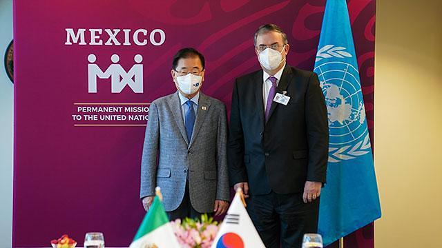 한·멕시코 외교장관회담...유엔총회 계기 보건협력협정 추진