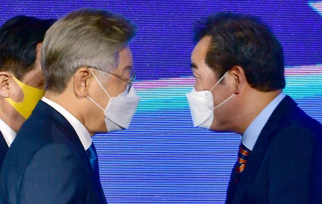 """[與 대선 경선] 이재명 """"대장동 가짜뉴스"""" VS 이낙연 """"엄정히 수사·처벌해야"""""""